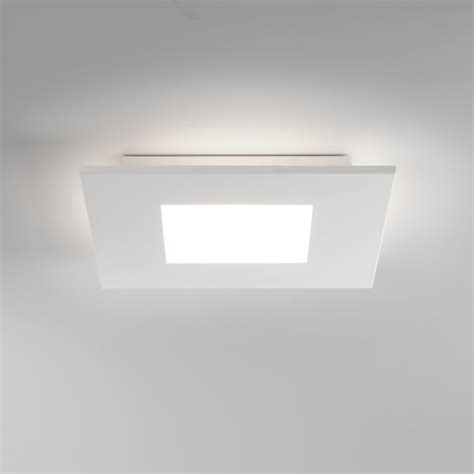 square led ceiling lights 7419 zero square led flush ceiling light white