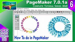 Rounding Text Effect In Pagemaker 7  Pagemaker Logo