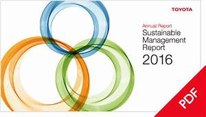 Toyota Global Site Annual Report Sustainable Management