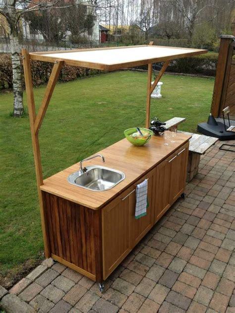 cuisine exterieure meuble bois cuisine peinture meuble de cuisine en bois