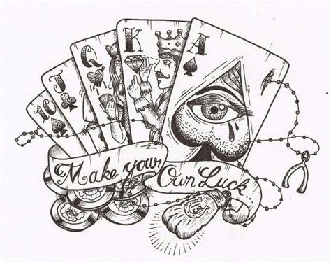 luck tattoo stencil tattoo stencils