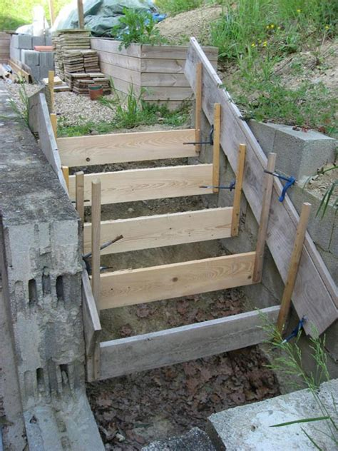 faire un escalier en beton le monde de bruno bichara fabriquer escalier b 233 ton