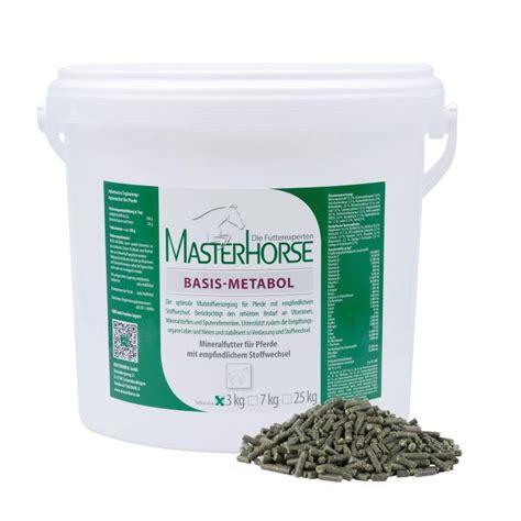 masterhorse basis metabol mineralfutter fuer pferde mit