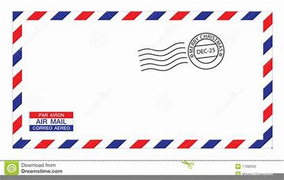 Airmail Envelope Clipart Clip Christmas Clker Fotosearch