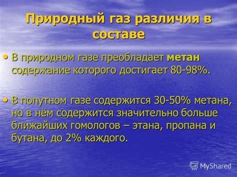 Природный газ состав. свойства природного газа опасности использования.