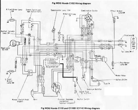 honda c110d wiring schematic 4 stroke net all the data for your honda motorcycle or moped