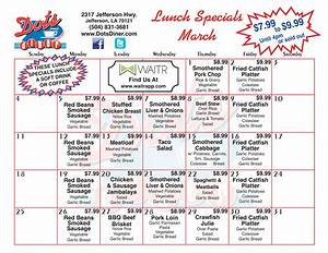 Dots Diner Daily Lunch Specials