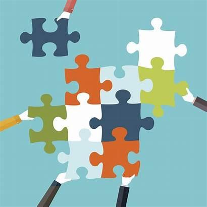 Integration Clip Teamwork Puzzle Concept Va Apps