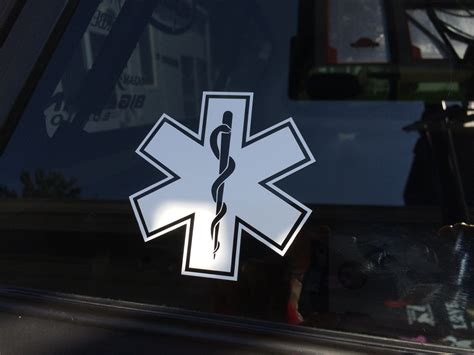 Emt Logo Vinyl Decal Emergency Medical Technician Decal Emt