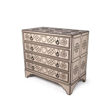 chests and dressers bliss studio ta 2157 belgian linen studded chest w 43 5 d 2157
