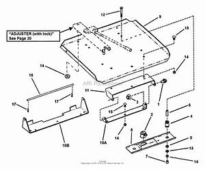 Snapper Zf6100m 61 U0026quot  Out Front Mower Deck Series 0 Parts Diagram For Seat Support Assembly