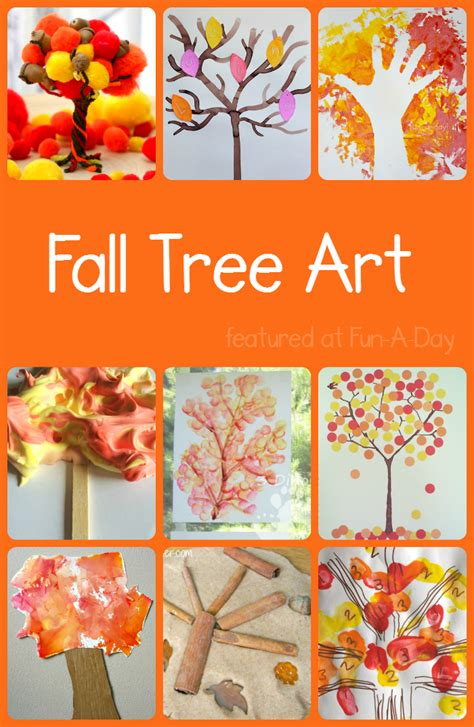 so many fall tree projects to try with your preschoolers 893 | fall art projects for kids 10 fall trees