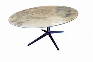 Table Marbre Ovale :  ~ Teatrodelosmanantiales.com Idées de Décoration