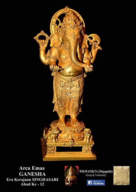Patung Dewa Ganesha By Wayway kerajaan singhasari wilwatikta majapahit