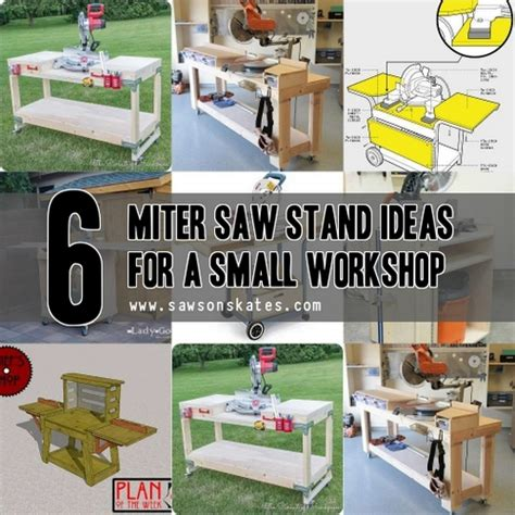 diy space saving miter  stand plans   small workshop