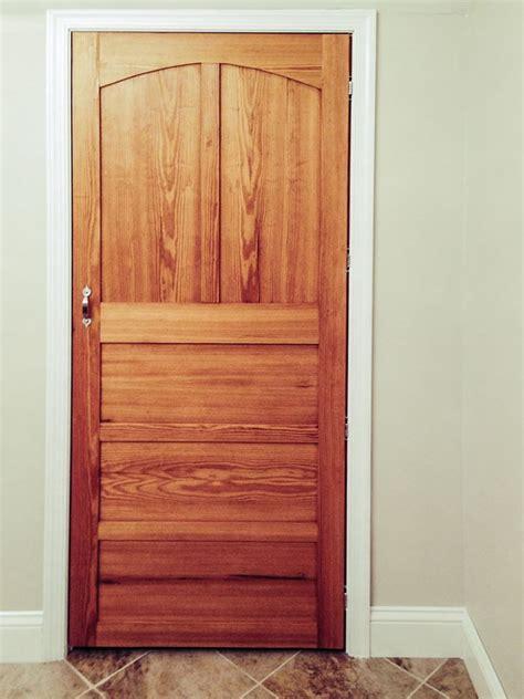 custom  yellow pine interior door  red acorn