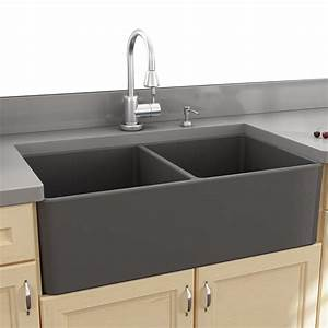 nantucket sinks cape 3325quot x 18quot double bowl apron kitchen sink reviews wayfair With 25 apron front sink