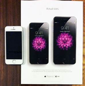 New Apple Print Ad Shows Off iPhone 6 and 6 Plus 'Actual ...