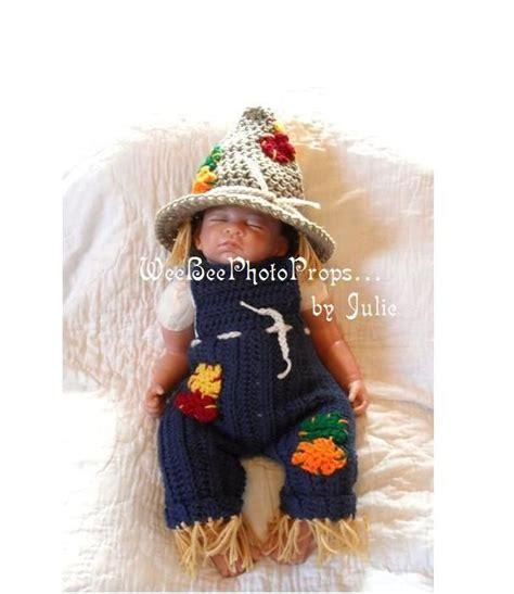 newborn halloween scarecrow costume photography prop baby