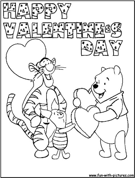 valentines day coloring page pooh valentinesday coloring page