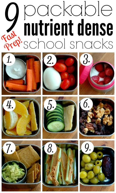 9 packable nutrient dense school snacks school snacks 764 | c1eb171908e30c90bd0d4deaccac75ce