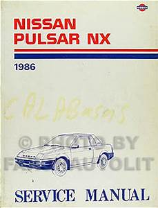 1989 Nissan Pulsar Nx Factory Service Manual