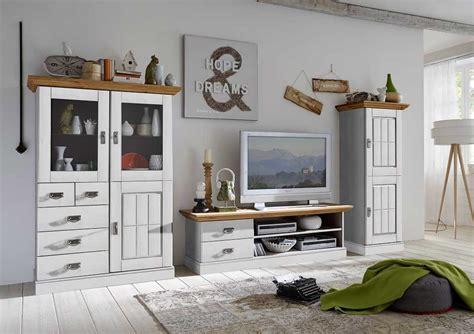 Wohnzimmer Landhaus Weiß by Wohnzimmer Landhaus Tv Kombination Fjord Wei 223 Gelaugt