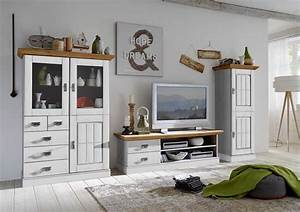 Tv Möbel Landhausstil : wohnzimmer landhaus tv kombination fjord wei gelaugt ge lt von jumek g nstig bestellen skanm bler ~ Orissabook.com Haus und Dekorationen