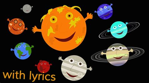 solar system song  lyrics youtube