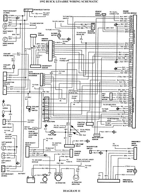 Wire Diagram 95 Buick Century by 1992 Buick Lesabre Wiring Schematic Schematic Wiring