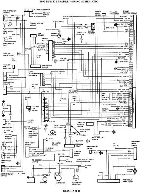 buick lesabre wiring schematic schematic wiring