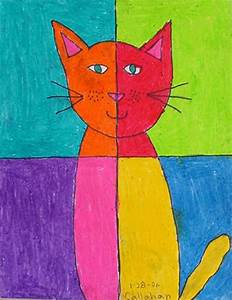 Abstract Art Cat - Art Projects for Kids