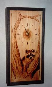 Another, Wood, Burned, Clock