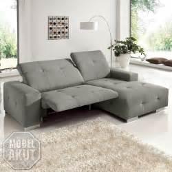 zweisitzer sofa mit relaxfunktion ecksofa francisco sofa grau sand mit elektrischer relaxfunktion 257 cm ebay