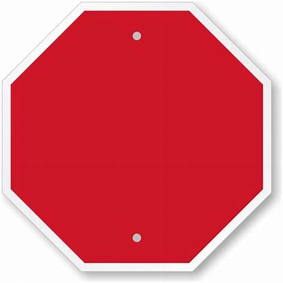 Blank Octagon Sign Shaped Stop Clipart Blanks