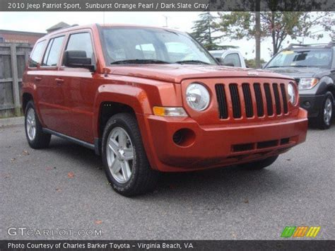 orange jeep patriot sunburst orange pearl 2010 jeep patriot sport dark
