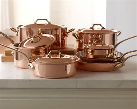 mauviel copper  piece cookware set williams sonoma
