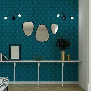 Papier Peint Bleu Canard : tapisserie leroy merlin e papier peint leroy merlin pour ~ Farleysfitness.com Idées de Décoration