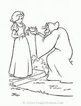 Neige Blanche Coloriage Snow Coloring Pomme Sorciere Nains Disney Sept Coloriages Qui Colouring Colorear Dwarfs Cu Cristinapicteaza Planse Queen Witch sketch template