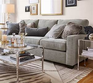 buchanan square arm upholstered sofa pottery barn With buchanan couch pottery barn