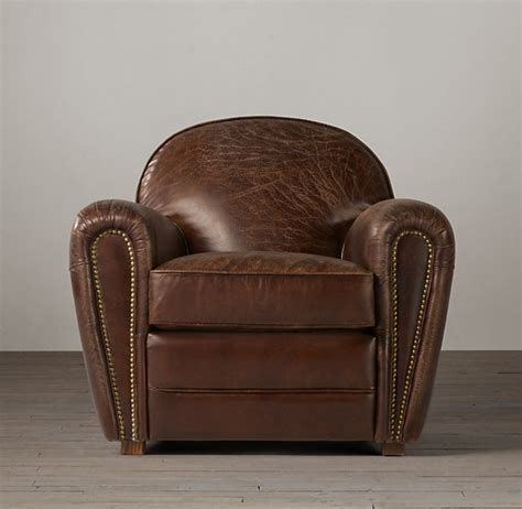restoration hardware duncan leather club chair look 4 less