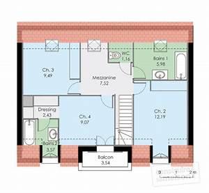 Maison familiale 2 Détail du plan de Maison familiale 2 Faire construire sa maison