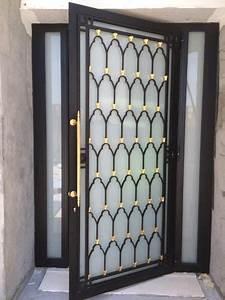 porte vitree exterieur habillage en fer forge maisons With poignet de porte design