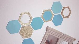 Diy honeycomb wall decor easy recycling home idea