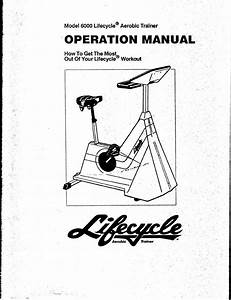 Life Fitness Elliptical Trainer 6000 User Guide