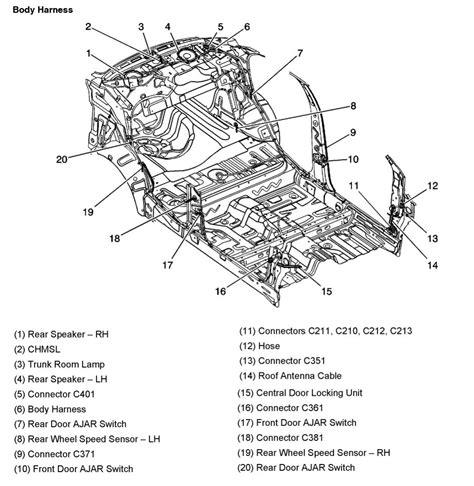 2010 Silverado Engine Diagram by 2005 Aveo Master Connector List And Diagrams