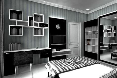 warna cat rumah minimalis hitam putih arsitekhom