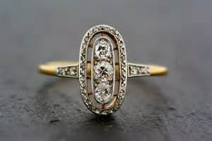 antique deco engagement rings antique gold and deco engagement ring onewed