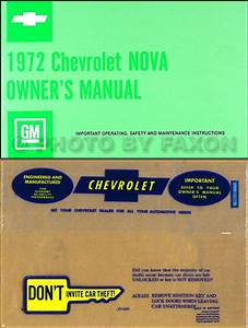 1972 Chevy Nova Wiring Diagram Manual Reprint