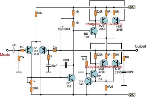 Simple Watt Amplifier Circuit Electronic